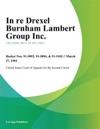 In Re Drexel Burnham Lambert Group Inc