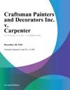 Craftsman Painters And Decorators Inc V Carpenter