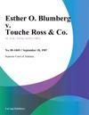 Esther O Blumberg V Touche Ross  Co
