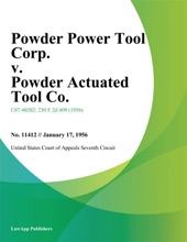 Powder Power Tool Corp. v. Powder Actuated Tool Co.