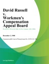 David Russell V Workmens Compensation Appeal Board Volkswagen America