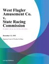 West Flagler Amusement Co V State Racing Commission