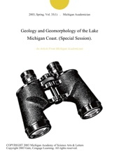 Geology And Geomorphology Of The Lake Michigan Coast. (Special Session).