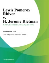 Lewis Pomeroy Rhiver V. H. Jerome Rietman