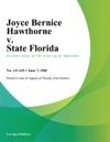 Joyce Bernice Hawthorne V State Florida