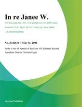 In Re Janee W.