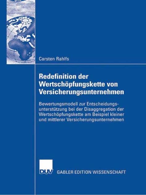 redefinition der wertschpfungskette von versicherungsunternehmen von carsten rahlfs in apple books - Wertschopfungskette Beispiel