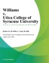 Williams V Utica College Of Syracuse University