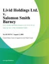 Livid Holdings Ltd V Salomon Smith Barney