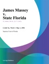 James Massey V State Florida