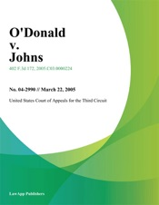 Download and Read Online Odonald v. Johns