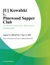 Kowalski V Pinewood Supper Club
