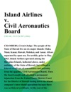 Island Airlines V Civil Aeronautics Board