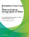 Resolution Trust Corp V Midwest Federal Savings Bank Of Minot