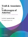Trull  Associates V Volkswagen Of America