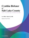 Cynthia Birkner V Salt Lake County