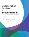 Congregation Passion V Touche Ross