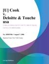 U Cook V Deloitte  Touche Usa