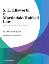 S. E. Ellsworth v. Martindale-Hubbell Law