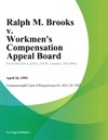 Ralph M Brooks V Workmens Compensation Appeal Board Anchor Glass Container