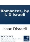 Romances By I DIsraeli