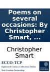 Poems On Several Occasions By Christopher Smart