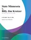 052396 State Minnesota V Billy Jim Krotzer