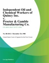 Independent Oil And Chemical Workers Of Quincy Inc V Procter  Gamble Manufacturing Co
