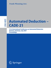 Automated Deduction – CADE-21