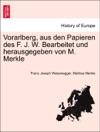 Vorarlberg Aus Den Papieren Des F J W Bearbeitet Und Herausgegeben Von M Merkle I ABTHEILUNG