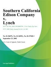Southern California Edison Company V. Lynch