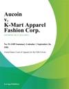 Aucoin V K-Mart Apparel Fashion Corp