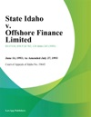 State Idaho V Offshore Finance Limited
