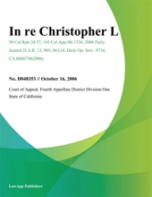 In Re Christopher L.