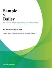 Sample V. Bailey