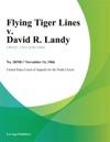 Flying Tiger Lines V David R Landy