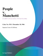 Download and Read Online People V. Manchetti