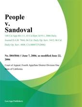 People V. Sandoval