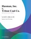 Husman Inc V Triton Coal Co