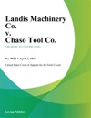 Landis Machinery Co V Chaso Tool Co