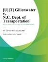 UT Gillenwater V NC Dept Of Transportation