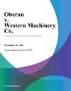 Oberan V Western Machinery Co