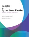 Langley V Byron Stout Pontiac