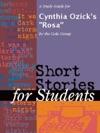 A Study Guide For Cynthia Ozicks Rosa