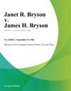 Janet R Bryson V James H Bryson