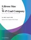 Lilirose Sias V W-P Coal Company