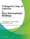 Yokogawa Corp Of America V Skye International Holdings