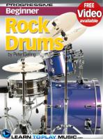 LearnToPlayMusic.com & Peter Gelling - Rock Drum Lessons for Beginners artwork
