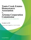 Tonto Creek Estates Homeowners Association V Arizona Corporation Commission