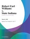 Robert Earl Williams V State Indiana